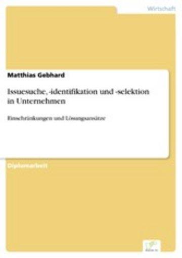 eBook Issuesuche, -identifikation und -selektion in Unternehmen Cover