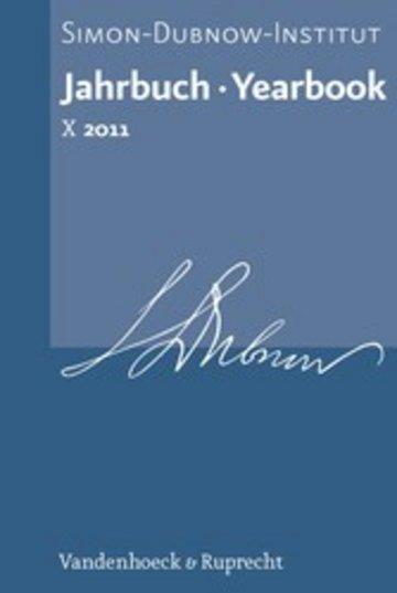 eBook Jahrbuch des Simon-Dubnow-Instituts / Simon Dubnow Institute Yearbook X (2011) Cover