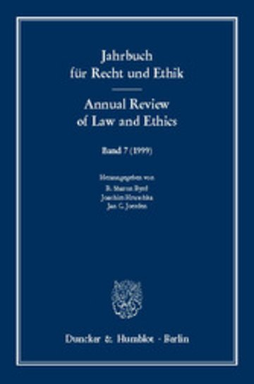 eBook Jahrbuch für Recht und Ethik / Annual Review of Law and Ethics. Cover