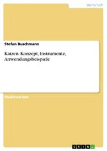 eBook Kaizen. Konzept, Instrumente, Anwendungsbeispiele Cover