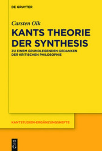 eBook Kants Theorie der Synthesis Cover