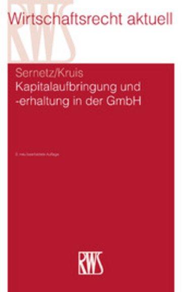 eBook Kapitalaufbringung und -erhaltung in der GmbH Cover