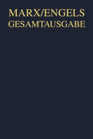 eBook Karl Marx/Friedrich Engels: Manuskripte und redaktionelle Texte zum dritten Buch des 'Kapitals' 1871 bis 1895 Cover