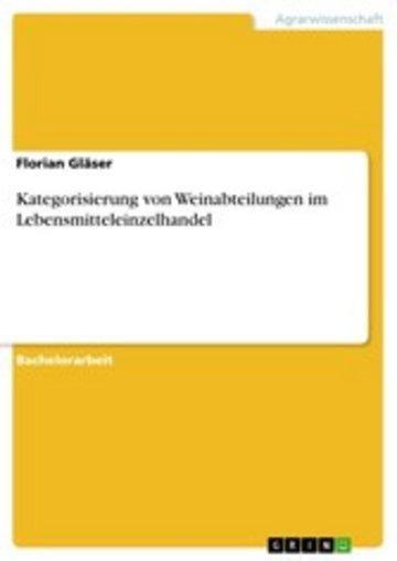 eBook Kategorisierung von Weinabteilungen im Lebensmitteleinzelhandel Cover