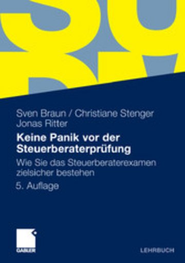 eBook Keine Panik vor der Steuerberaterprüfung Cover