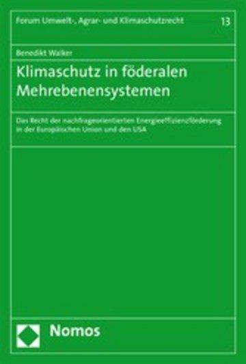 eBook Klimaschutz in föderalen Mehrebenensystemen Cover