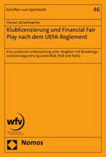 eBook Klublizenzierung und Financial Fair Play nach dem UEFA-Reglement Cover