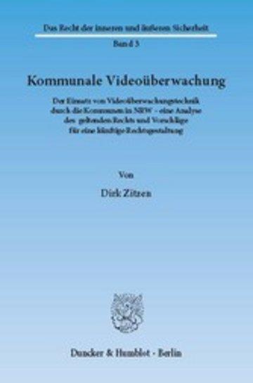eBook Kommunale Videoüberwachung. Cover