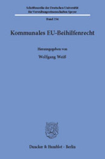 eBook Kommunales EU-Beihilfenrecht. Cover