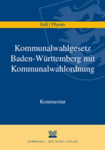 eBook Kommunalwahlgesetz Baden-Württemberg mit Kommunalwahlordnung Cover