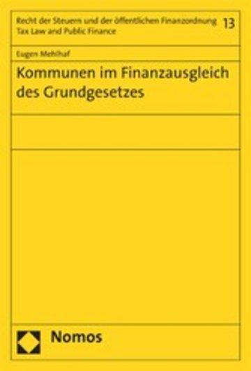 eBook Kommunen im Finanzausgleich des Grundgesetzes Cover