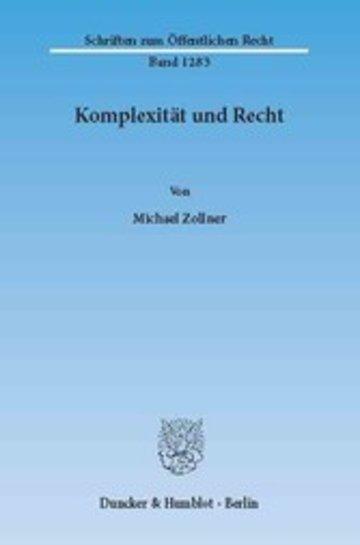 eBook Komplexität und Recht. Cover