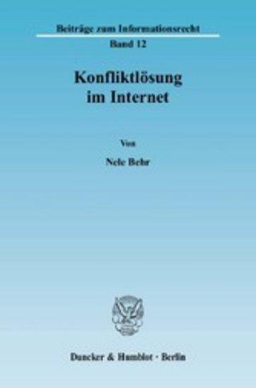 eBook Konfliktlösung im Internet. Cover