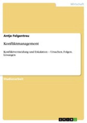 eBook Konfliktmanagement Cover