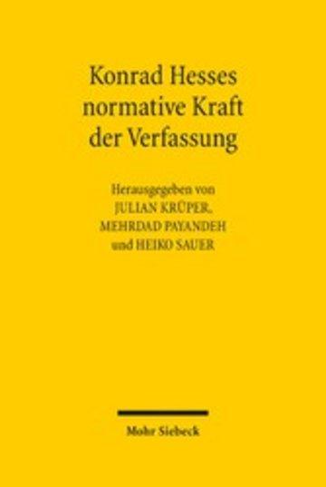 eBook Konrad Hesses normative Kraft der Verfassung Cover