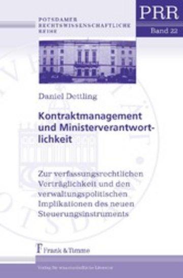 eBook Kontraktmanagement und Ministerverantwortlichkeit Cover