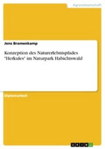 eBook Konzeption des Naturerlebnispfades 'Herkules' im Naturpark Habichtswald Cover