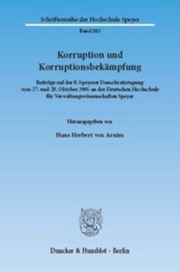 eBook Korruption und Korruptionsbekämpfung. Cover