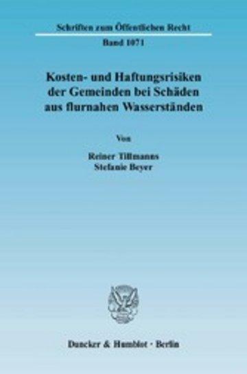 eBook Kosten- und Haftungsrisiken der Gemeinden bei Schäden aus flurnahen Wasserständen. Cover