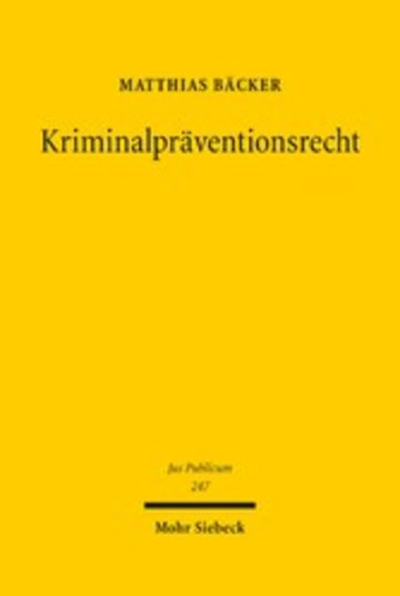 eBook Kriminalpräventionsrecht Cover
