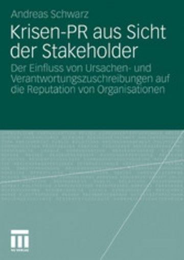 eBook Krisen-PR aus Sicht der Stakeholder Cover