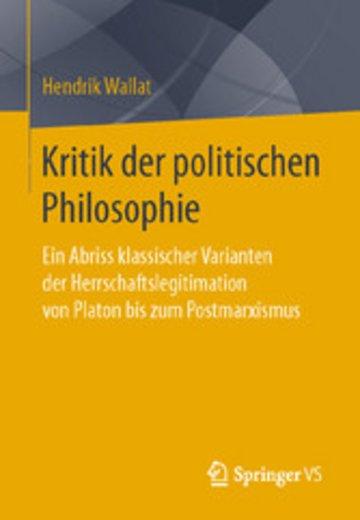 eBook Kritik der politischen Philosophie Cover