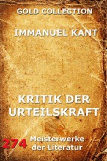 eBook Kritik der Urteilskraft Cover