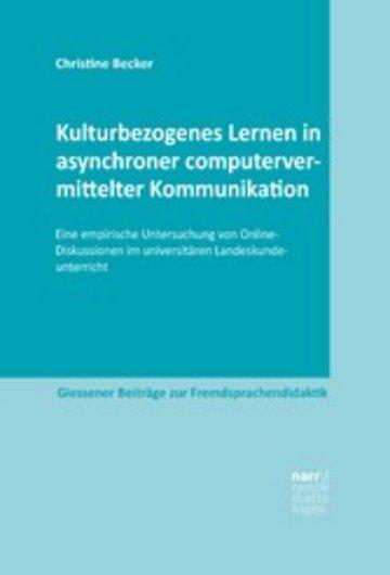 eBook Kulturbezogenes Lernen in asynchroner computervermittelter Kommunikation Cover