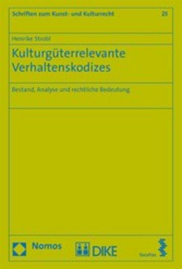 eBook Kulturgüterrelevante Verhaltenskodizes Cover