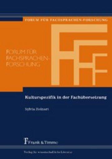 eBook Kulturspezifik in der Fachübersetzung Cover