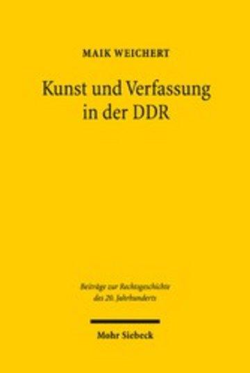 eBook Kunst und Verfassung in der DDR Cover