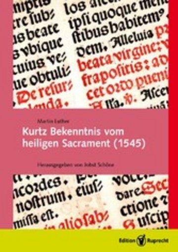 eBook Kurtz Bekenntnis vom heiligen Sacrament (1545) Cover