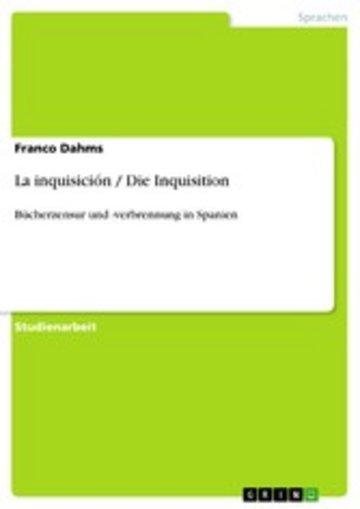 eBook La inquisición / Die Inquisition Cover