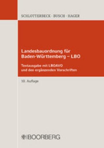 eBook Landesbauordnung für Baden-Württemberg - LBO Cover