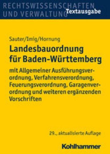 eBook Landesbauordnung für Baden-Württemberg Cover