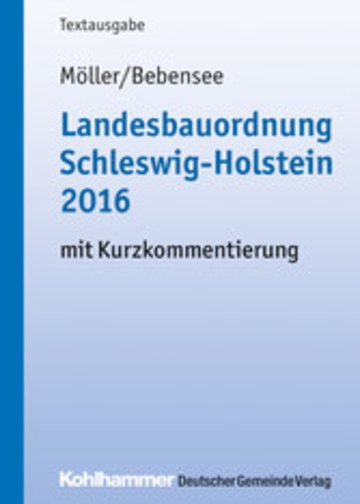 eBook Landesbauordnung Schleswig-Holstein 2016 Cover