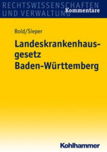 eBook Landeskrankenhausgesetz Baden-Württemberg Cover