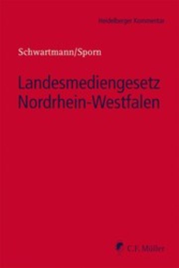 eBook Landesmediengesetz Nordrhein-Westfalen Cover