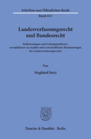 eBook Landesverfassungsrecht und Bundesrecht. Cover