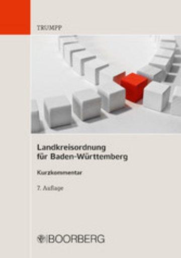 eBook Landkreisordnung für Baden-Württemberg Cover