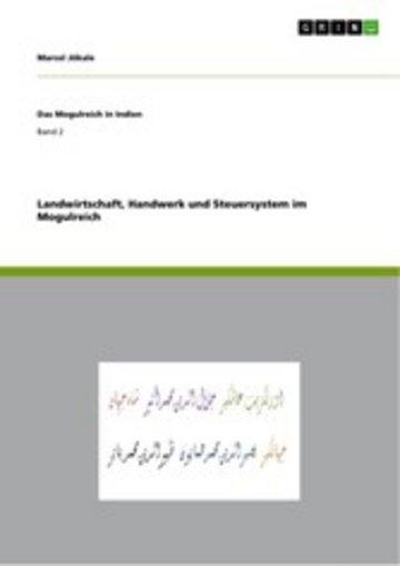 eBook Landwirtschaft, Handwerk und Steuersystem im Mogulreich Cover