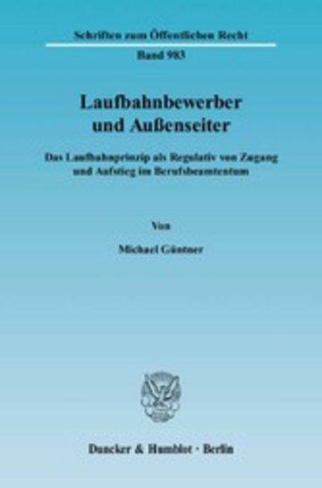 eBook Laufbahnbewerber und Außenseiter. Cover