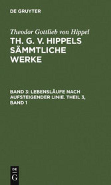 eBook Lebensläufe nach aufsteigender Linie. Theil 3, Band 1 Cover