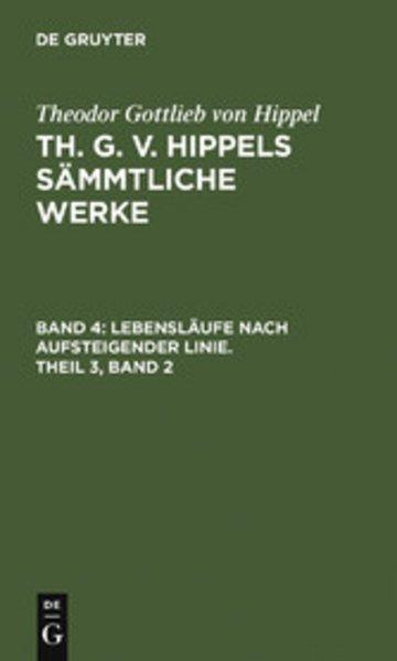 eBook Lebensläufe nach aufsteigender Linie. Theil 3, Band 2 Cover