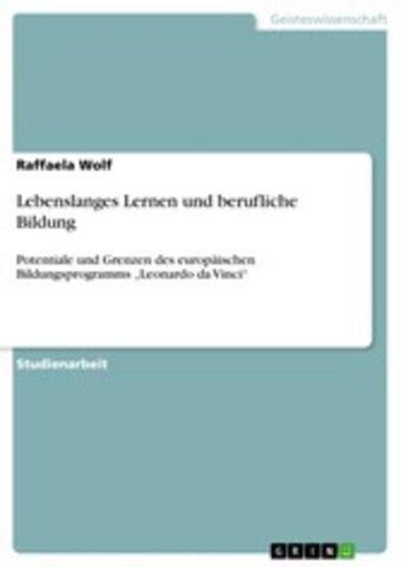 eBook Lebenslanges Lernen und berufliche Bildung Cover