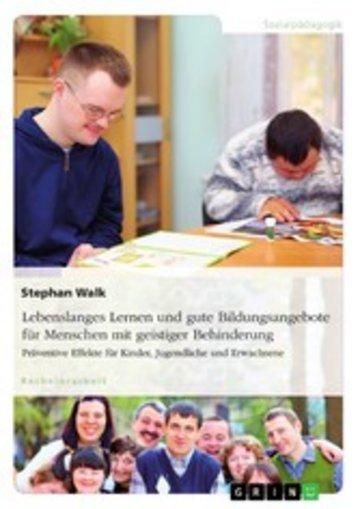 eBook Lebenslanges Lernen und gute Bildungsangebote für Menschen mit geistiger Behinderung Cover
