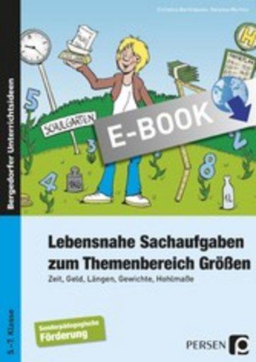 eBook Lebensnahe Sachaufgaben zum Themenbereich Größen Cover