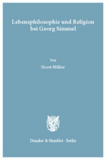eBook Lebensphilosophie und Religion bei Georg Simmel. Cover