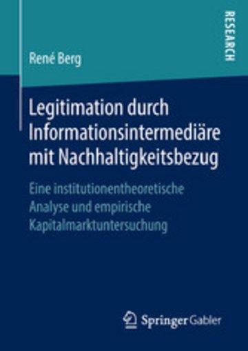 eBook Legitimation durch Informationsintermediäre mit Nachhaltigkeitsbezug Cover