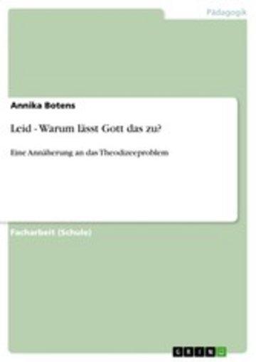 eBook Leid - Warum lässt Gott das zu? Cover